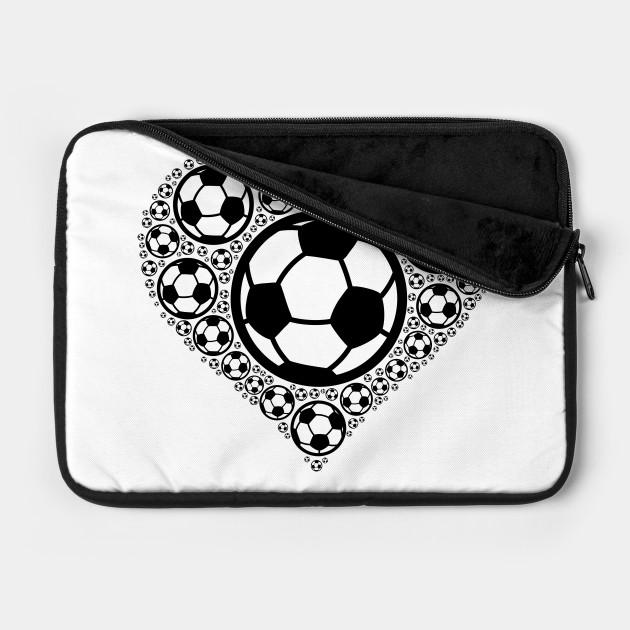 Soccer Balls in Heart | Soccer Player Gift