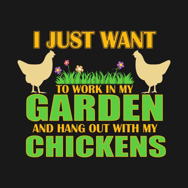 Garden Hangout Chickens Shirt Gardening