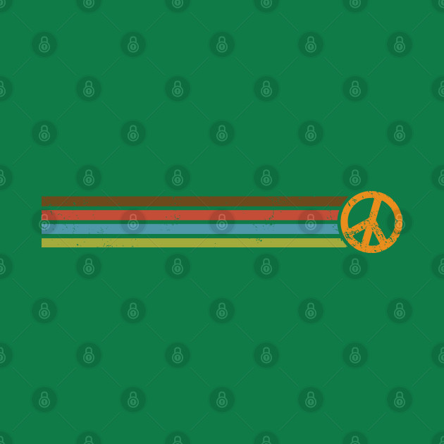 RETRO PEACE STRIPES - 70s Vintage Color Palette