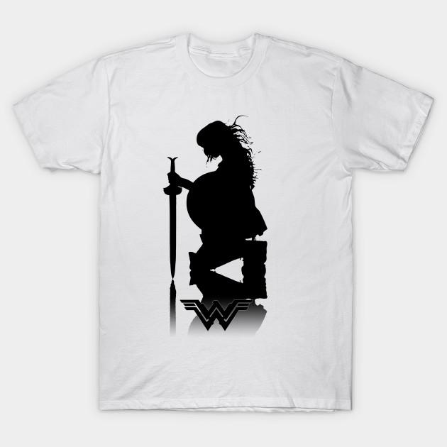 5b718608 Wonder Woman silhouette - Wonder Woman Silhouette - T-Shirt   TeePublic