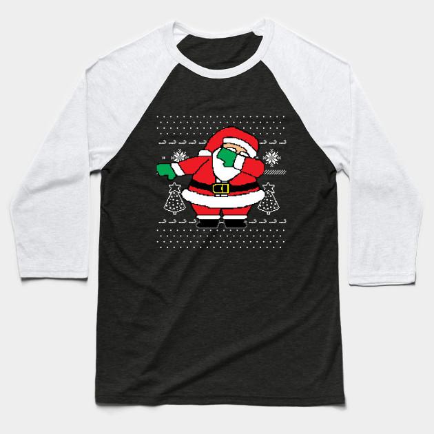 57132feb Dabbing Santa Ugly Christmas Sweater - Dabbing Santa - Baseball T ...
