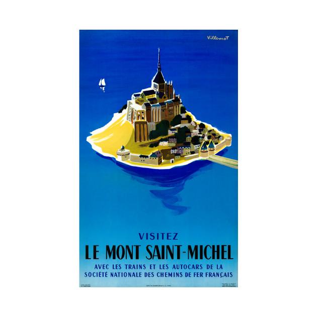 Vintage Travel Poster France Mont Saint Michel