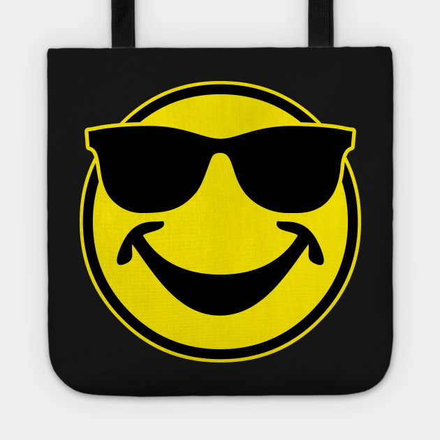 a5eadca4d92d COOL yellow SMILEY BRO with sunglasses - Smile - Tote | TeePublic