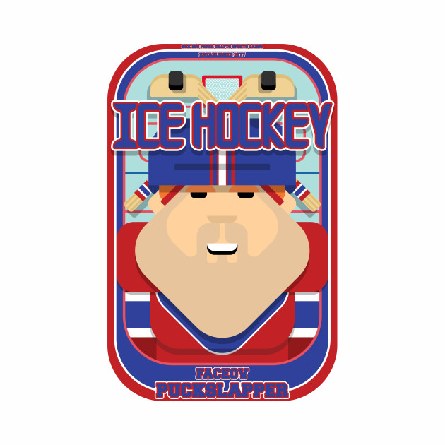 Ice Hockey Red and Blue - Faceov Puckslapper - Josh version