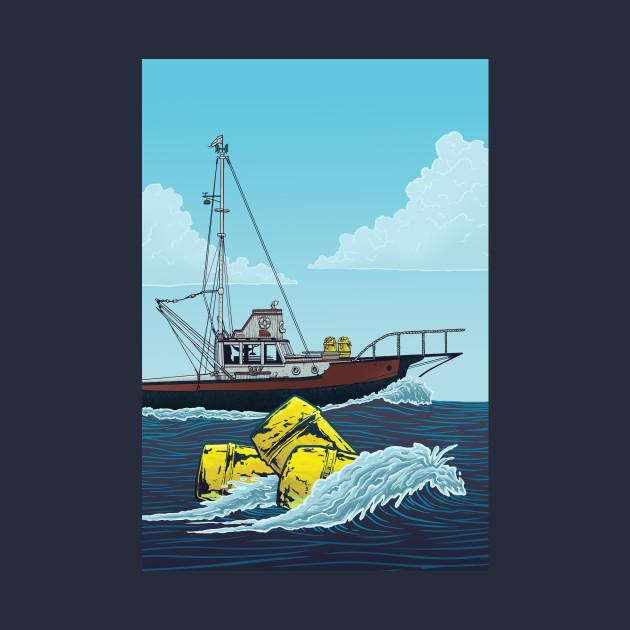 Jaws: Orca Illustration
