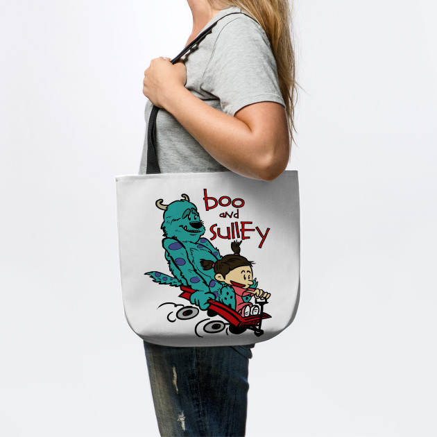 bd0a0d433 Boo and Sulley as Calvin and Hobbes - Monsters Inc - Tote | TeePublic