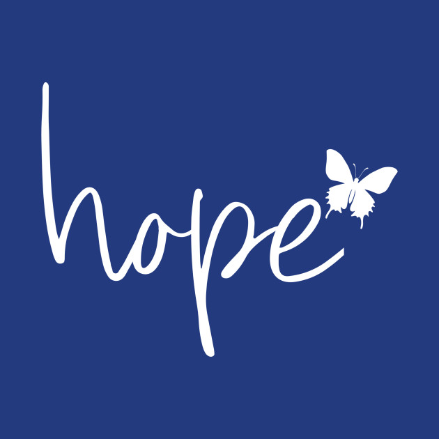 Hope with butterfly