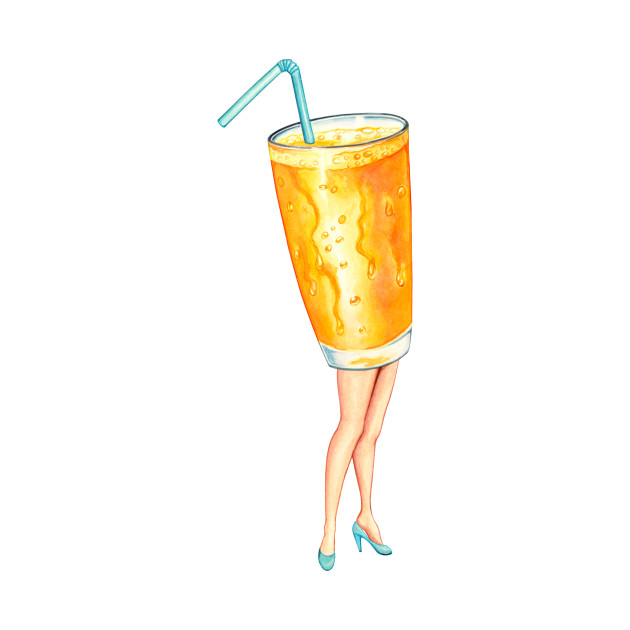 Orange Juice Pin-up