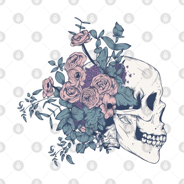 Floral Skull beauty