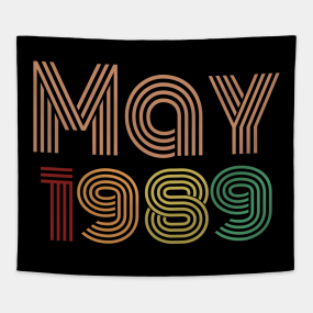 Happy 30th Birthday Thirties Born In May 1989 Tapestry
