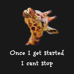 6252a5afe Funny Laughing I Can't Stop Cracking Up Giraffe T-Shirt