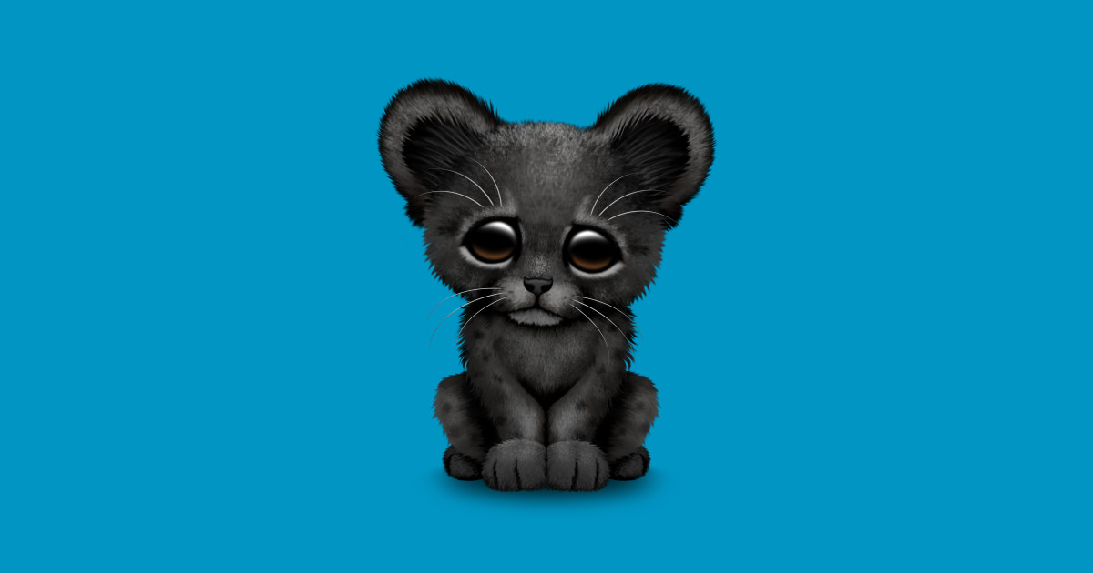 cute baby black panther cub - black panther