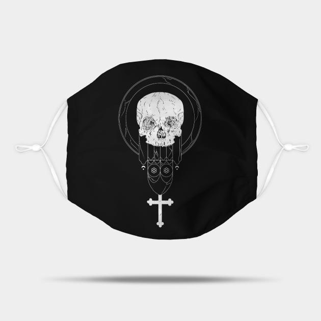 Memento Mori Skull Atheist Occult Clothing Grunge Clothing Pagan Clothing Gothic Clothing atheist