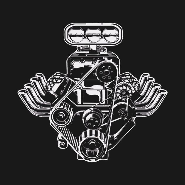 Car Engine Cool Logo