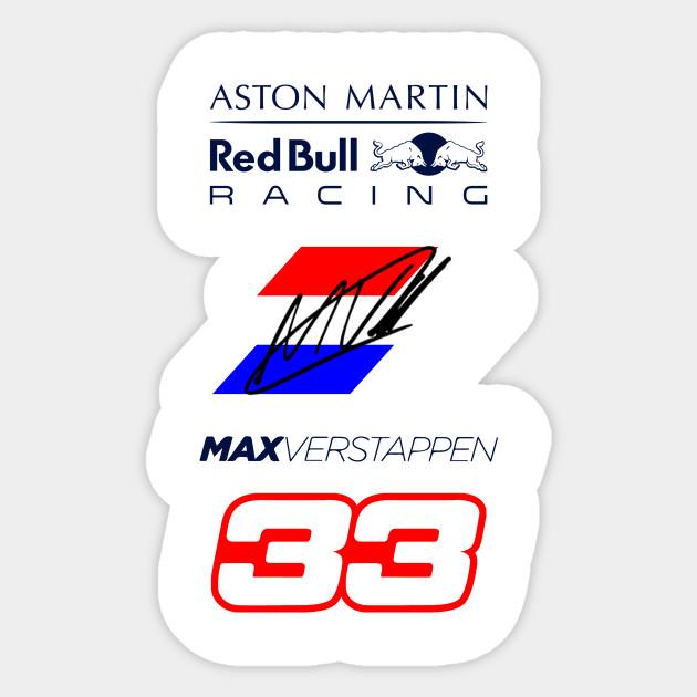 Verwonderend Max Verstappen - Max Verstappen - Sticker   TeePublic WA-13