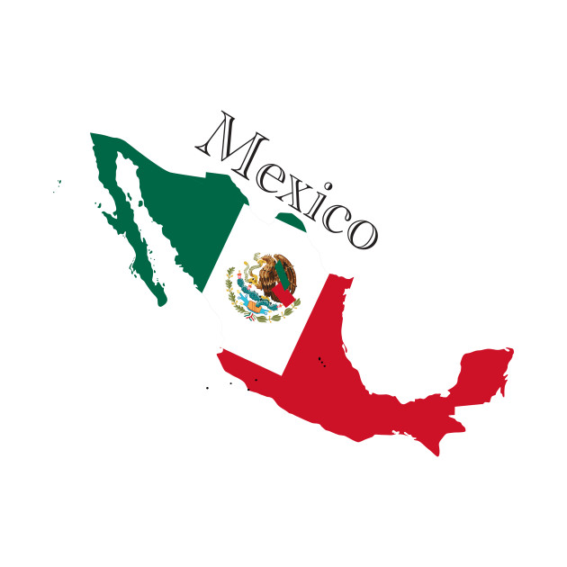Mexican Map and Fkag