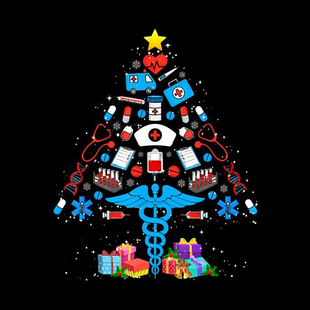 Medical Christmas Tree: Funny Christmas Tree Medical Tools Nurse Christmas Gift