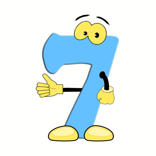 Number 7 Smiley Monogram Face Emoji Shirt for Men Women Kids