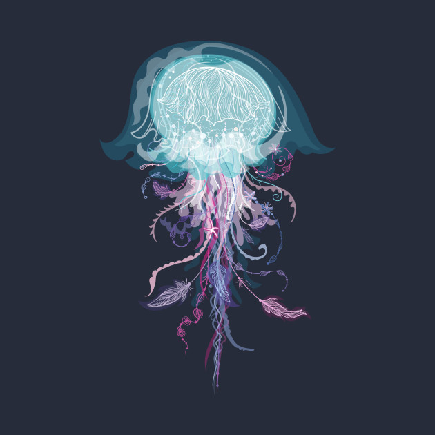 Vector Boho Jellyfish
