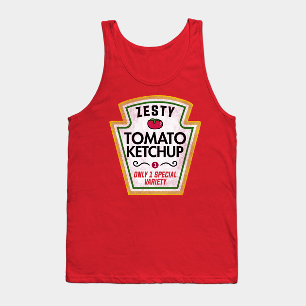 Funny Ketchup Halloween Costume Tank Top