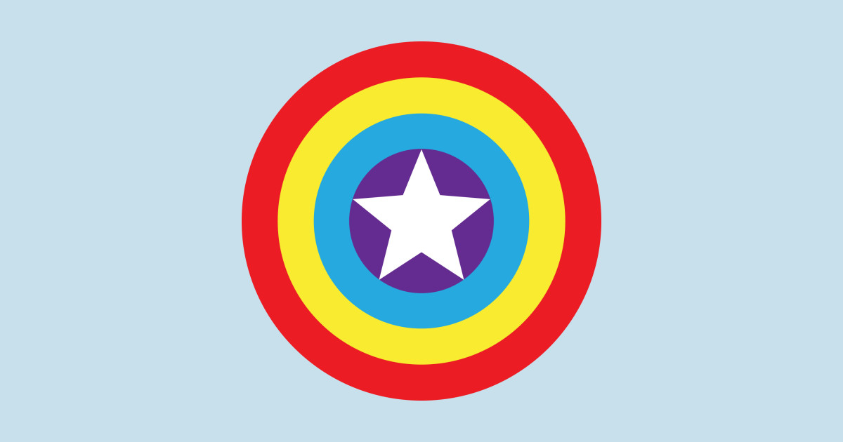 Captain America Gay Pride Shield Captain America T