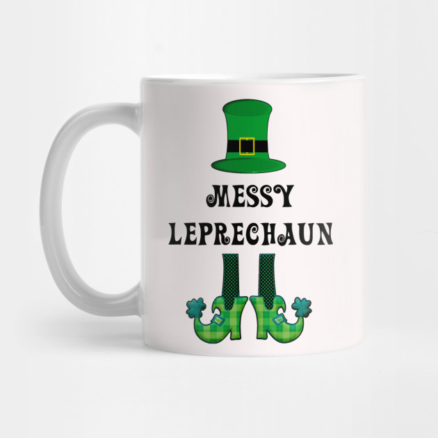 St Patrick's St Paddy's St Patty's Day Messy Leprechaun Mug