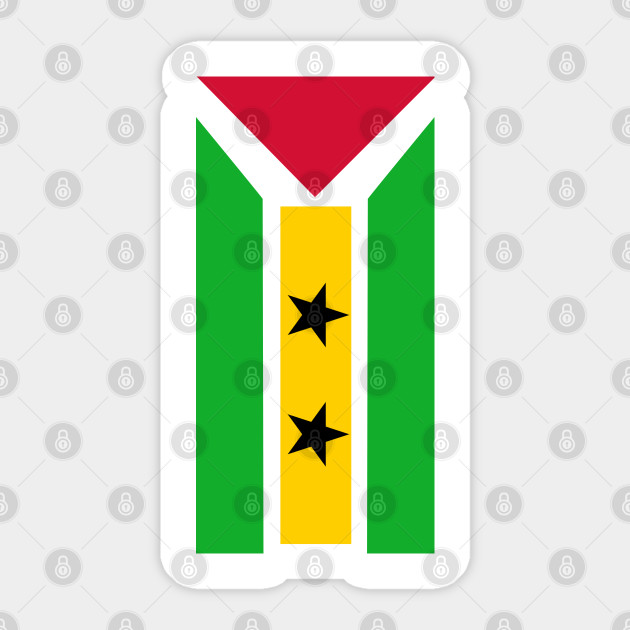 SAO TOME /& PRINCIPE COUNTRY VINYL FLAG DECAL STICKER