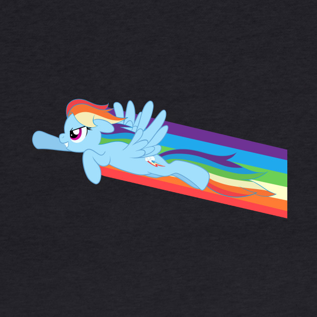 Rocketing Rainbow Dash