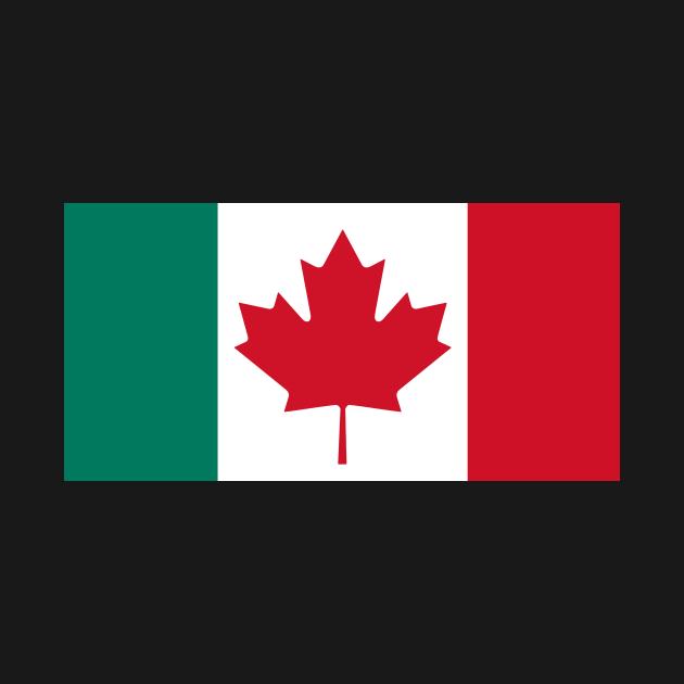 Canada - Italy Flag Mashup