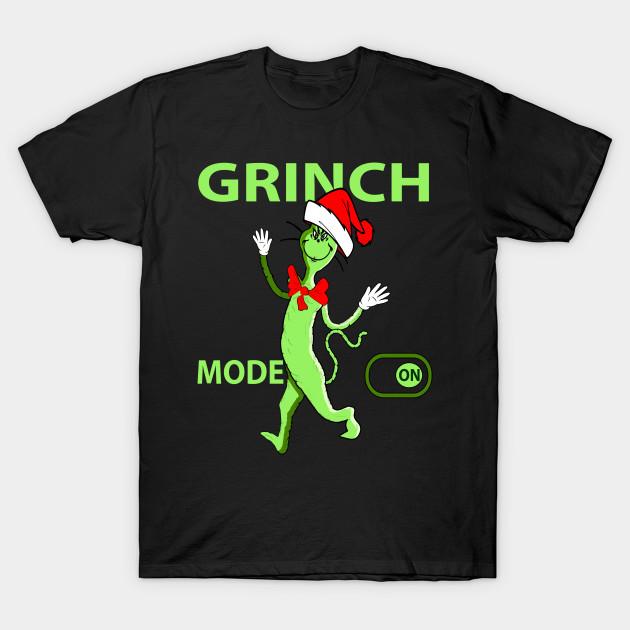 Grinch Mode On Ugly Christmas Adult Crewneck Sweatshirt