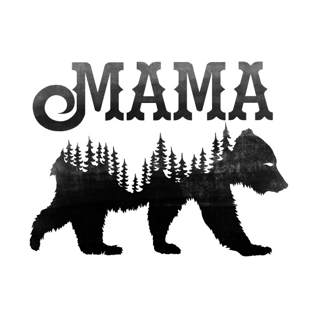 Mama Bear Black Mom T Shirt Teepublic