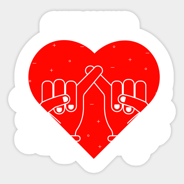 Pinky Promise Friendship Stickers 2pk