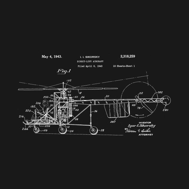 Helicopter Patent Blueprint I I Sikorsky