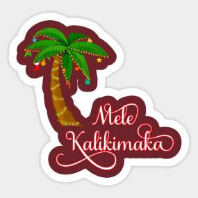 mele kalikimaka merry christmas stickers teepublic - Merry Christmas Stickers