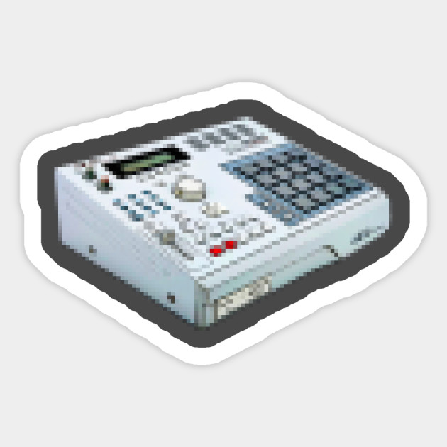 Pixelart MPC 2000 Beat-Maker Tribute Design