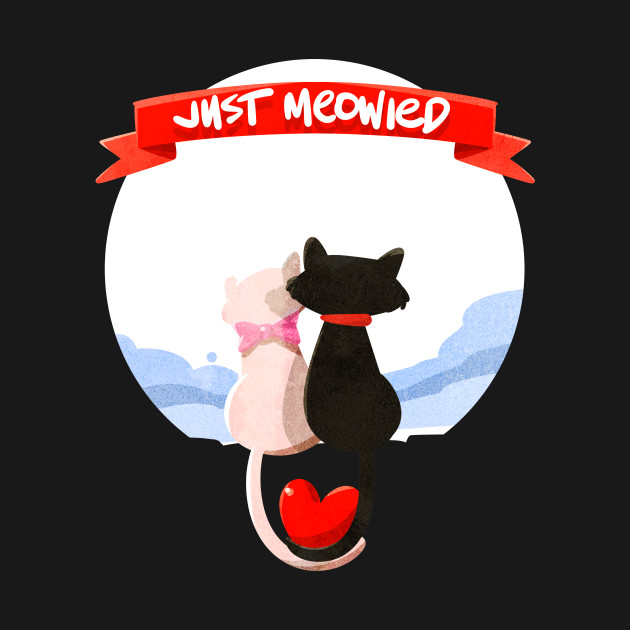 72acfaac7 Just Married Cat Lover Funny Relationship Couples T-shirt - Cute - T ...