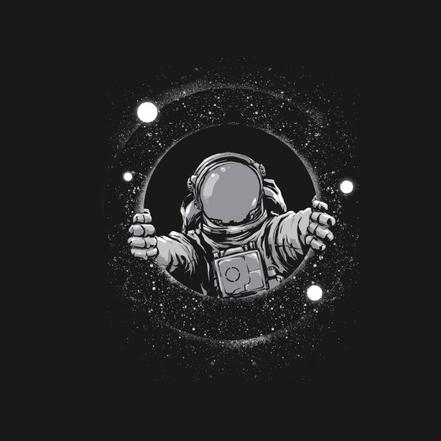 Black hole space t shirt teepublic for Outer space industrial design
