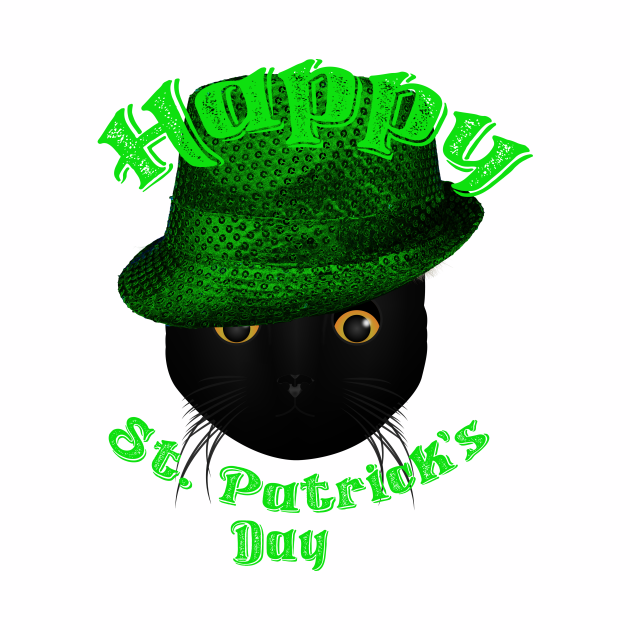 Black Cat Happy Saint Patrick's Day