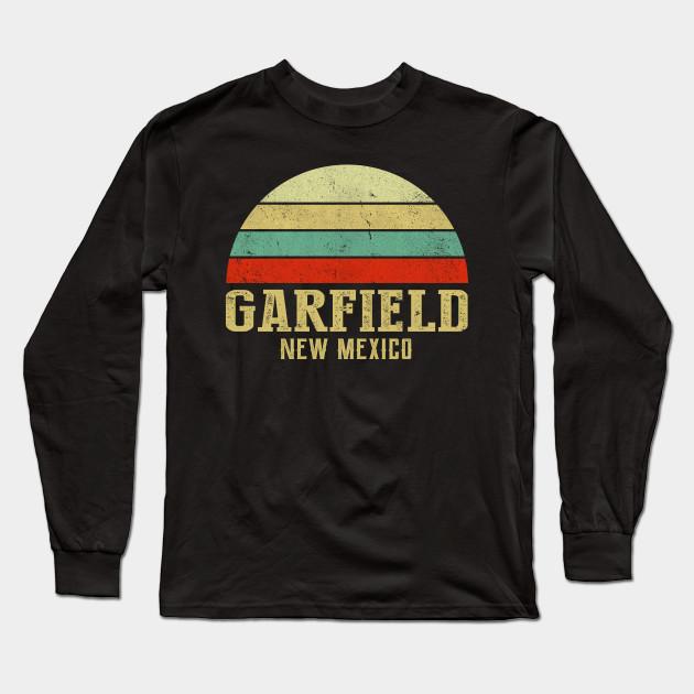 Garfield New Mexico Vintage Retro Sunset Shirt Garfield City Long Sleeve T Shirt Teepublic