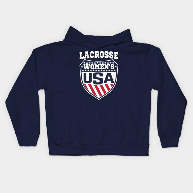 dabe6f0dbdf99 USA Women's Lacrosse Shield T-Shirt Female Lax player - Usa Lacrosse ...
