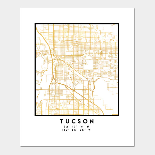graphic about Printable Map of Tucson Az known as TUCSON ARIZONA Town Highway MAP Artwork