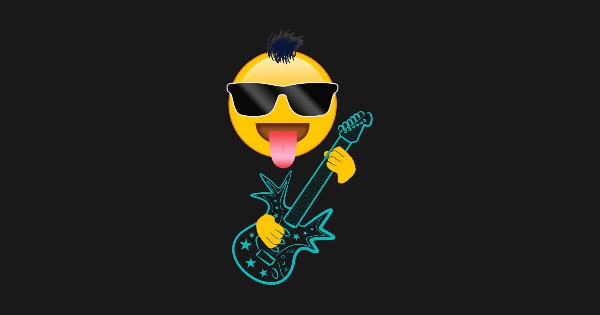 Rock Guitar Music Emoji Music T Shirt Teepublic