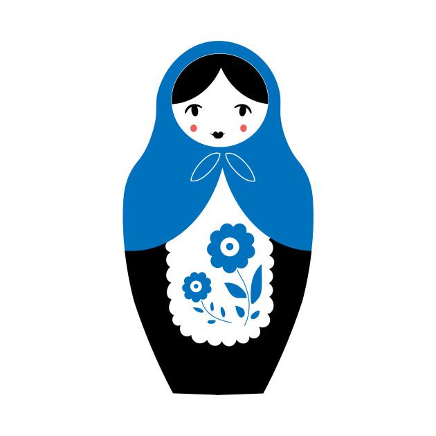 Matryoshka Nesting Doll, Blue