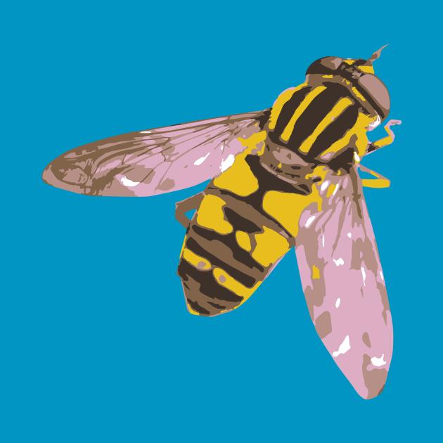 Hoverfly vector illustration