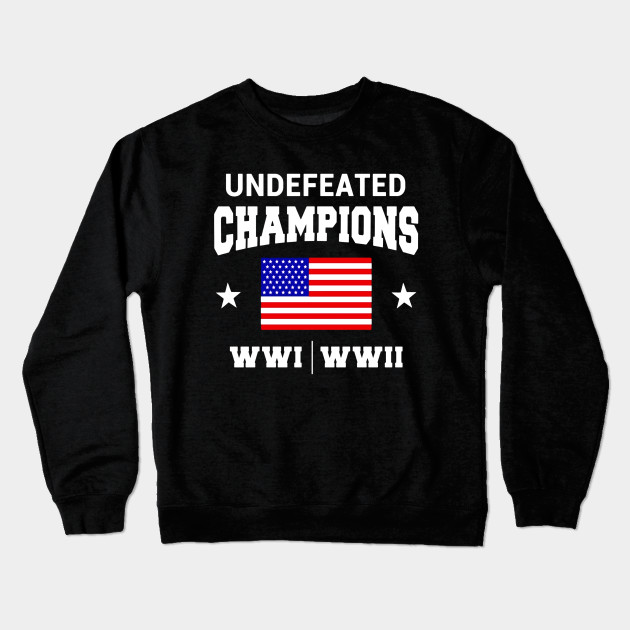 WW1 WW2 Champions T Shirt Funny 4th of July Clothing