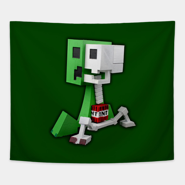 Minecraft - 3D Creeper Skeleton TNT