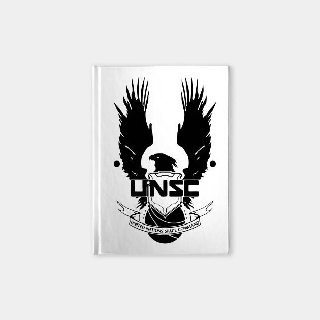 unsc logo halo 4 clean logo in black unsc logo halo 4 notebook