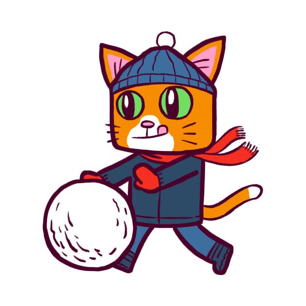 Winter Gato Snowball