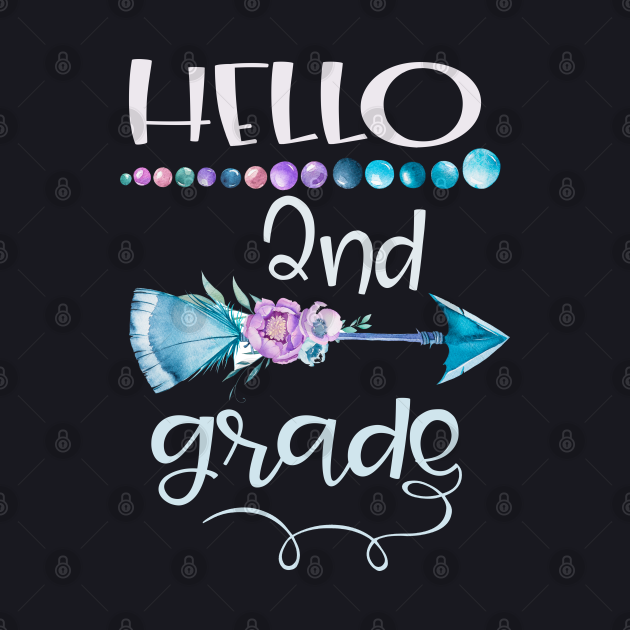 Hello 2nd grade arrow Grow With Me First Day of School