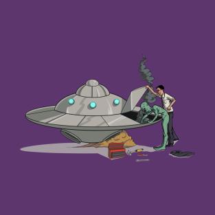 Broken Down UFO t-shirts